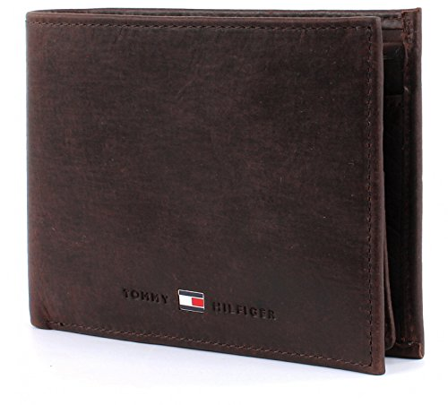 TOMMY HILFIGER Johnson CC Flap and Coin Pocket Brown -