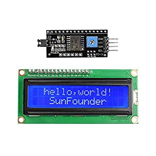 SunFounder IIC I2C TWI 1602 Serial LCD Module Display for Arduino Uno R3 Mega 2560 16x2 (MEHRWEG)