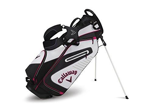 Callaway Golf Capital Stand Bag, Stand Bag, White/Black/Pink