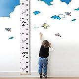 utovme bebé niños Vara de Medir Altura tamaño Crecimiento Chart Anexos cinta métrica, marco de madera dibujos animados Crecimiento Regla pared decoración para habitación de los Niños, 20x 194cm