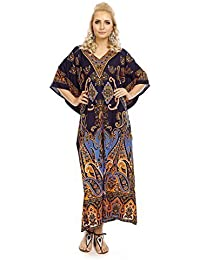 f739cf39d59 New Ladies Oversized Maxi Kimono Kaftan Tunic Kaftan Dress Free Size