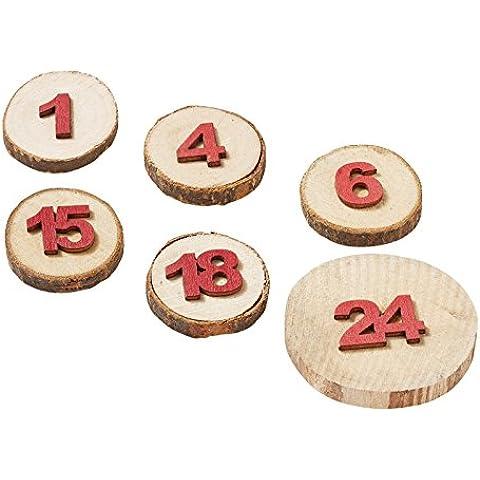 Avvento numeri legno Disco con punto adesivo