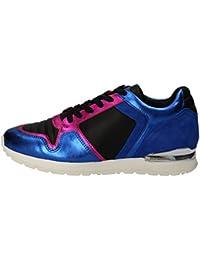 Bikkembergs BKW101039 zapatillas para mujer piel, color azul