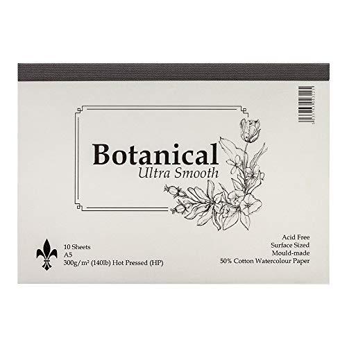 ST Cuthberts: Botanical Ultra suave: bloc acuarela: A5: 300G/m²