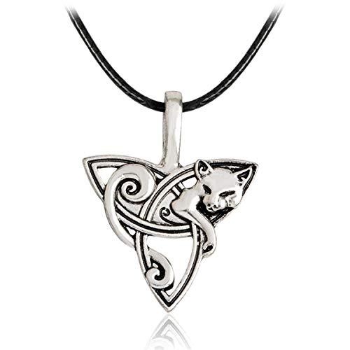 Kidly Einstellbare Triquetra Piraten Talisman Anhänger Amulett Halskette Wolf Seaside Tier Teen Exquesite C