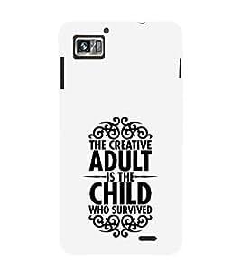 FUSON Creative Adult Child Survived 3D Hard Polycarbonate Designer Back Case Cover for Lenovo K860 :: Lenovo IdeaPhone K860