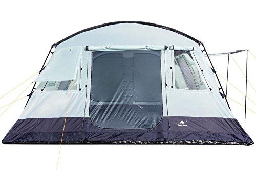 CampFeuer - 6 Personen Familienzelt, riesiger Vorraum, 5000 mm Wassersäule, Campingzelt, (+ 6 weitere Personen im Vorraum möglich) - 4