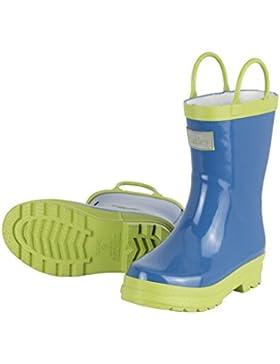 Hatley Jungen Blue and Green Rain Gummistiefel