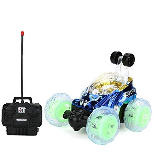 Xshuai 140x130x135mm Neue 360 ° Spinning Und Flips Mit Farbe Flash & Musik für Kinder Fernbedienung Lkw Kühlen Weihnachtsgeschenk (Blau)