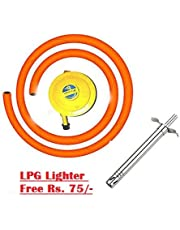 PrinceTraderes Bharatgas, Regulator + Hose Pipe + Free Lighter