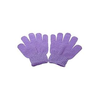 Arpoador Exfoliating Shower Gloves Home Bathroom Bath Towel Soothing Skin Smoothing (Purple)