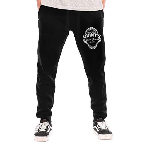 LihaiLe Quint's Shark Fishing Men's Long Pockets Pants Black