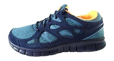 Nike  Free Run 2, Chaussures de course pour homme Multicolore multicolore - - midnight navy bright citrus squadron blue 404, 7 UK / 41 EU / 8 US EU