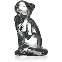 "Statue, figurine en cristal, collection ""Cars"", satiné, Grand Chat, 15 cm (GERMAN CRYSTAL powered by CRISTALICA)"