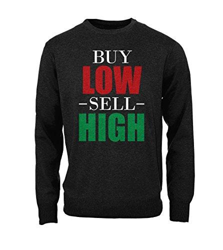 Buy Low Sell High Crypto Trader Bitcoin Cryptocurrency Btc Ltc Digital Currency Herren Sweatshirt Pullover Schwarz Medium (Dream Hoody Sweatshirt)