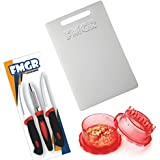 Combo Of Chopping Board, Sumo Knife Gift Set And Multi Crusher Classic