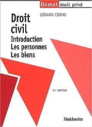 Droit civil : Introduction. Les personnes. Les biens