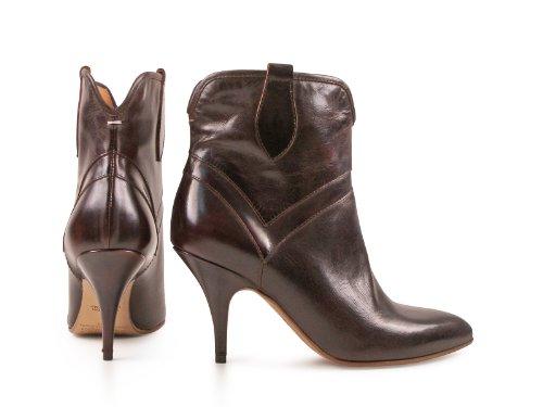 Bootines à talon Maison Martin Margiela en cuir marron - Code modèle: S38WU0222 SX8173 139 Marron