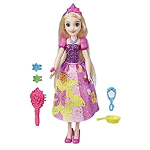 Disney Princess Rapunzel Be Bright Be Bold - Muñeca con Vestido de Colores Vivos e Impresiones atrevidas
