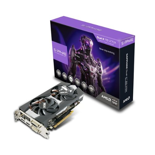 SAPPHIRE R9 270X 2048MB GDDR5 PCI-E DVI-I / DVI-D (Amd-grafikkarte R9 270)