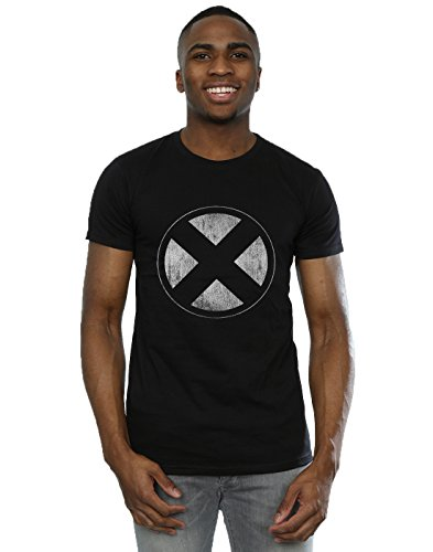 Marvel Herren X-Men Distressed Emblem T-Shirt Medium Schwarz -