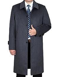 Vogstyle Hombres Otoño Invierno Slim Trench Coat Soltero Breasted Chaqueta Larga