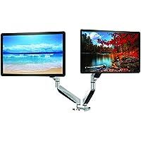 Supporto girevole regolabile da scrivania per Monitor PC, braccio di supporto con staffa di supporto