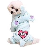 Rawdah_Mascota Ropa para Perros Peque?os Abrigos Camiseta Jerseyss Ropa para Mascotas Perro Gato Lindo? ?Abrigo De Transfiguración Porcina? Vestido