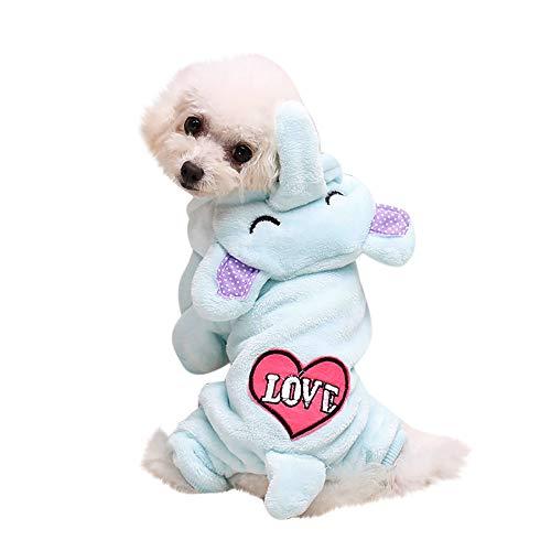 Schaf Kostüm Kleiner Hunde - Hunde Pullover FüR Kleine Hunde,Schaf Winter Warm Gepolsterte Verdickung Mantel Hund Kostüme Haustier Kleidung(M,#Himmelblau)
