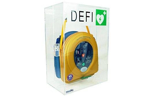 MedX5 universal Defibrillator Plexiglas Wandkasten für Innen, für alle AED's ohne Alarm