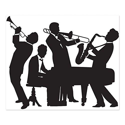 Beistle 52178Tolles 20's Jazz Band Beistle Wanddekoration, 5'x 6' Party Dekorationen, ()