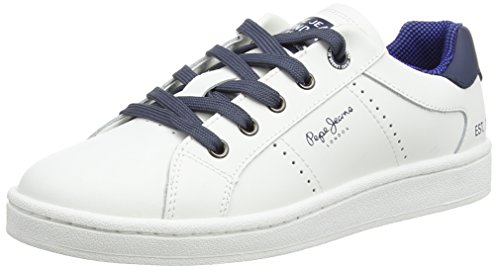 Pepe Jeans Lane Basic, Baskets Basses garçon Blanc - Weiß (800WHITE)