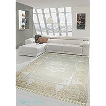Crema tappeto moderno Beige Taupe (Traumteppich) Größe 80x150 cm