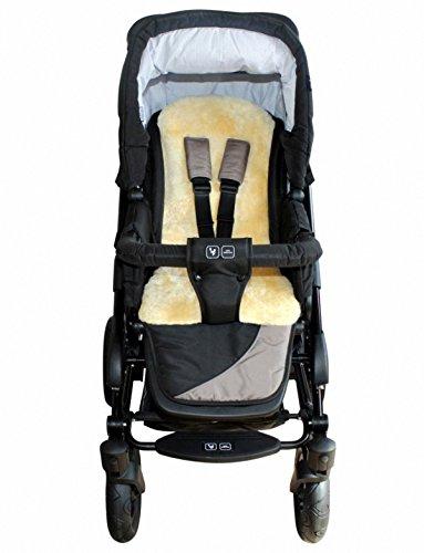 Baby Lammfellauflage 30 mm geschoren, für Tragschale, Buggy, Kinder Autositz, ca. 77x35 cm, waschbar