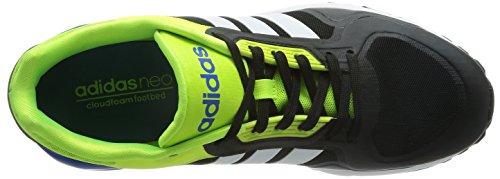 adidas - Run9tis Tm, Scarpe sportive Uomo Nero / Bianco / Giallo (Negbas / Ftwbla / Amasol)