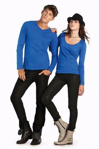 klassisches Langarm-T-Shirt 'Iggy Classic' mit V-Ausschnitt Black