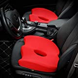 LFF.FF Auto Memory Cuscino Singolo Chip Ingrandire Ufficio Hip Altezza Cuscino Di Prova Cuscino Cuscino Traspirante 46 * 38 * 8Cm,Red