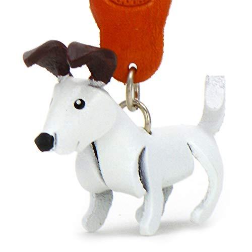 Monkimau Schlüsselanhänger Jack Russell Terrier Hund aus Leder -