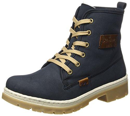 Rieker Damen Y9410 Stiefel, Blau (Pazifik/Mogano), 40 EU