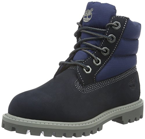 Timberland Unisex-Kinder 6 Classic Boot_6 in Quilt Boot Kurzschaft Stiefel, Blau (Navy Nubuck with Royal Blue), 30 EU