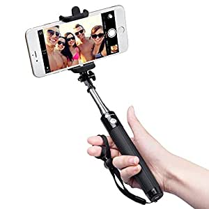 Bastone Selfie Bluetooth TaoTronics Asta Selfie Bluetooth Selfie Stick di Alta Qualità con Asta Estendibile fino a 80cm, Controllo Wireless, Materiale Inossidabile, 20 ore di Autonomia, Asta per Selfie Bluetooth Compatibile con Smartphone Android, iOS iPhone X 8 7 7 plus 6 6s 6s plus Samsung Galaxy s7 edge Huawei p9 lite