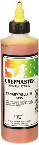 Chefmaster Airbrush, 9 oz. Canary Yellow AB9-CY-1