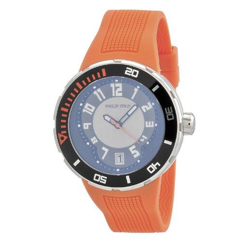 philip-stein-mens-34-brg-ro-extreme-orange-rubber-strap-watch