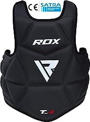 RDX Chest Guard Boxing MMA Martial Arts Maya Hide Rib Shield Armour Taekwondo Body Protector Training