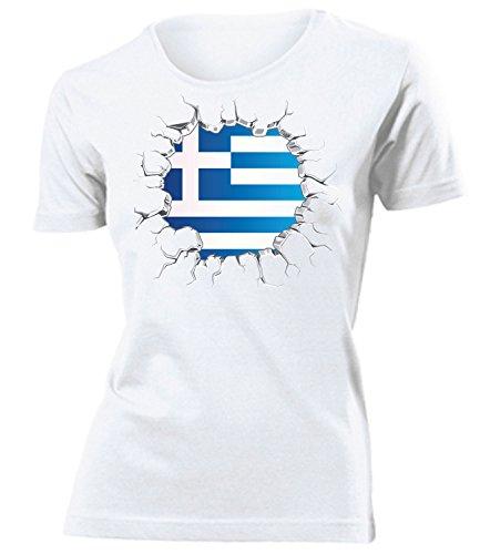 FUSSBALL – FANARTIKEL – Griechenland 5710 Frauen T-Shirt (F) Gr. M