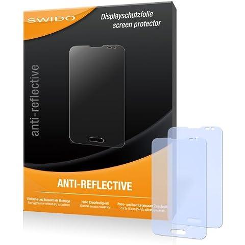 2 x SWIDO Anti-Reflective Lámina de protección para LG L70 / L-70 - ¡Protección de pantalla antirreflectante con recubrimiento duro! CALIDAD PREMIUM - Made in
