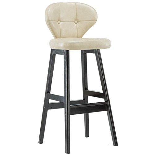 Bequemer Stuhl der Möbel-hohen Schemel, Retro Küche Hocker mit Massivholz hohen Hocker PU Sitz Frühstück Bar, Massivholz Unterstützung, Höhe 75cm für Küche Counter Bar, 24 - Counter-höhe 24