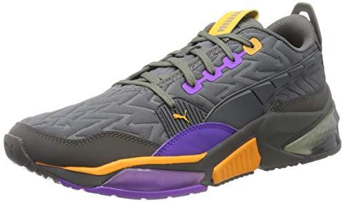 PUMA LQDCELL Optic Rave, Zapatillas de Running para Hombre, Castlerock-Purple Glimmer, 43 EU