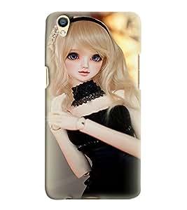 Printvisa Baby Doll Dressed Up In Black Back Case Cover for Oppo F1 Plus::Oppo R9