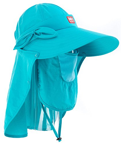 Igo Online Shop Damen Rundumschutz Sonnenhut UV-Hut Topee Ultraleicht atmungsaktiv, blau